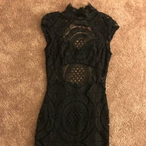Black Crochet BeBe Dress